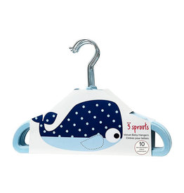 3 Sprouts 3 Sprouts - Velvet Non-slip hangers Whale