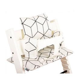 Ukje Kussen Stokke Tripp Trapp Witte blokken (geplastificeerd)