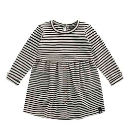 Your wishes Your Wishes - Button Dress Beige Stripes