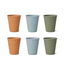 Liewood Liewood - Gertrud Bamboo Cups 6pcs Blue Multi Mix