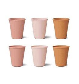 Liewood Liewood - Gertrud Bamboo Cups 6pcs Rose Multi Mix