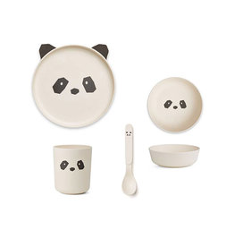 Liewood Liewood - Bamboo Tableware Box Set Panda creme de la creme