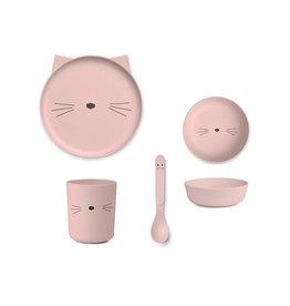 Liewood Liewood - Bamboo Tableware Box Set Cat rose