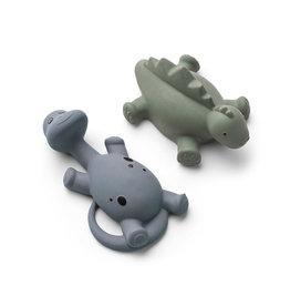 Liewood Algi Dino Bath Toys 2 Pack - Blue mix