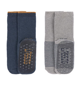 Lässig Lässig - Anti-slip Socks Blue / Grey