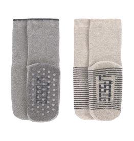 Lässig Lässig - Anti-slip Socks Grey / Beige