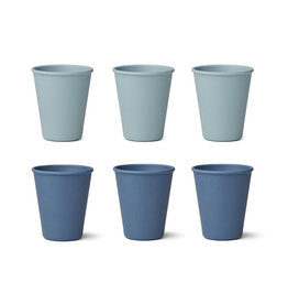 Liewood Liewood - Gertrud Bamboo Cups 6pcs Blue mix