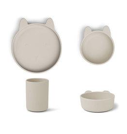Liewood Cyrus Silicone Tableware 3 pack - Junior - Rabbit sandy