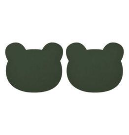 Liewood Gada Placemat 2 Pack - Mr bear hunter green