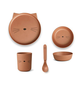 Liewood Liewood - Bamboo Tableware Box Set Cat terracotta