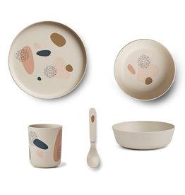 Liewood Liewood - Bamboo Tableware Box Set Bubbly sandy