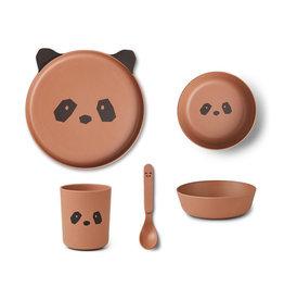 Liewood Liewood - Bamboo Tableware Box Set Panda tuscany rose