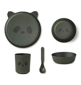 Liewood Liewood - Bamboo Tableware Box Set Panda hunter green