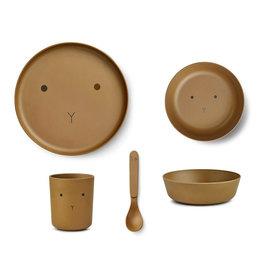 Liewood Liewood - Bamboo Tableware Box Set Rabbit olive green
