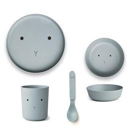 Liewood Liewood - Bamboo Tableware Box Set Rabbit sea blue