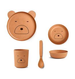 Liewood Liewood - Bamboo Tableware Box Set Mr bear mustard