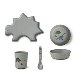 Liewood Liewood - Bamboo Tableware Box Set Dino dove blue mix