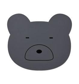 Liewood Aura Placemat - Mr bear stone grey