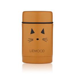 Liewood Nadja Food Jar - 250 ml - Cat mustard