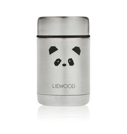 Liewood Nadja Food Jar - 250 ml - Panda stainless steel