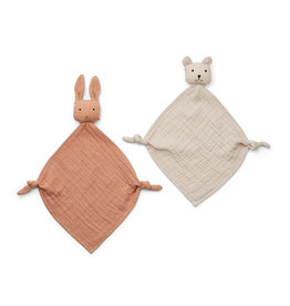 Liewood Yoko Mini Cuddle Cloth 2 Pack - Tuscany rose/sandy mix
