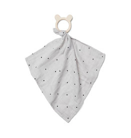 Liewood Liewood - Dines Teether Cuddle Cloth Classic Dot Dumbo Grey
