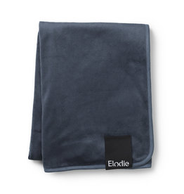 Elodie Details Pearl Velvet Blanket - Juniper Blue