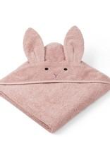 Liewood Augusta Hooded Junior Towel - Rabbit rose