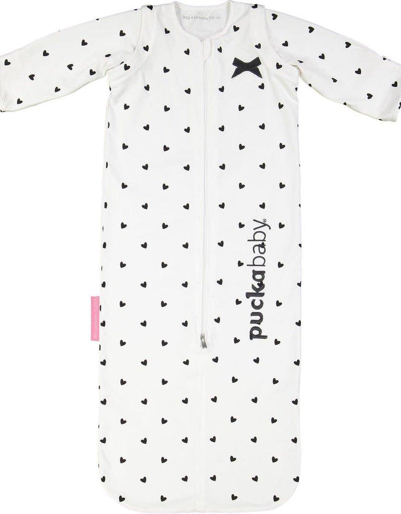 Puckababy Bag 4 Seasons 6 maanden – 2,5 jaar   100 cm White Love