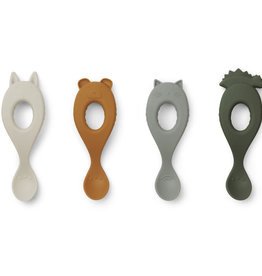 Liewood Liva Silicone Spoon 4 Pack - Hunter green mix