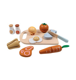 Tryco Wooden Chopping Board With Food