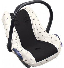 Dooky Seat cover black feather