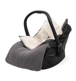 Jollein Voetenzak voor Autostoel & Kinderwagen - Bliss Knit - Storm Grey