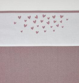 Meyco LEDIKANTLAKEN HEARTS - LILAC - 100X150CM