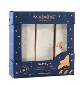 Nobodinoz Box 3 Baby Love swaddles • Haiku
