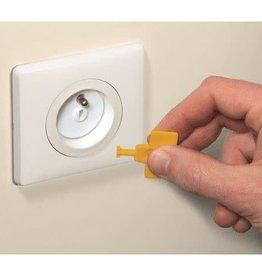 Safety 1St Stopcontact Beschermers Met Sleutel 12St.