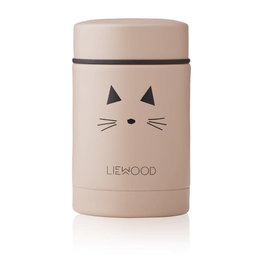Liewood Nadja Food Jar - 250 ml - Cat rose