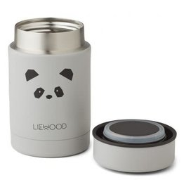 Liewood Nadja Food Jar - 250 ml - Panda light grey
