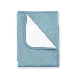 Bemini DEKEN 75x100cm mineraal blauw tetra jersey - 390CADUM65JP