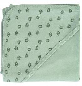 Lodger Baby deken Dreamer Nomad Silt Green Rib Print