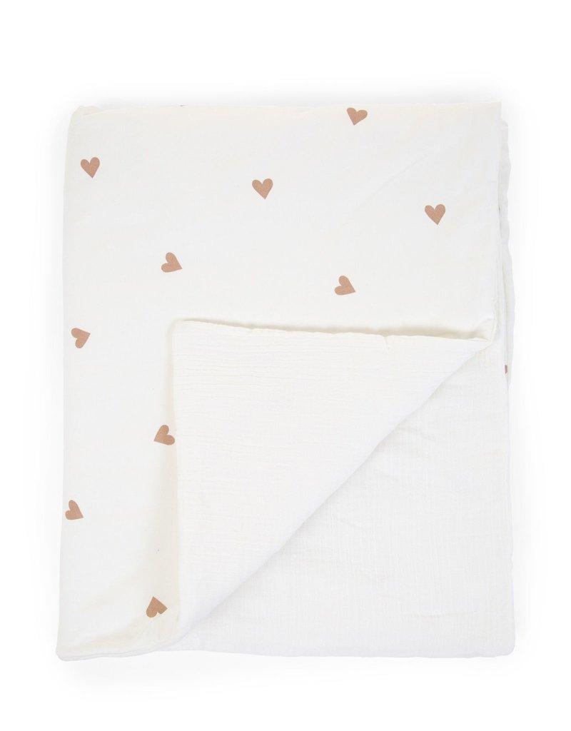 Childhome Babydeken 80x100 Cm - Jersey + Mousseline - Hearts