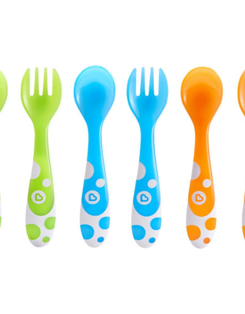 Munchkin 6 Veelkleurige vorken en lepels