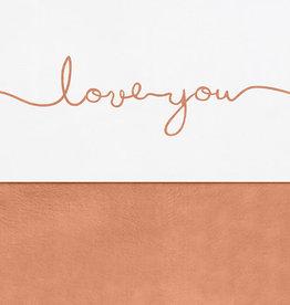 Jollein Laken Wieg 75x100cm - Love you - Caramel