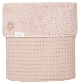Koeka Ledikantdeken wafel/teddy Oslo 100x150 grey pink/grey pink