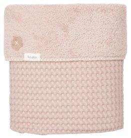 Koeka Ledikantdeken wafel/teddy Oslo Grey/Pink