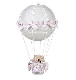 Pasito a pasito Luster luchtballon beer roze ruitjes