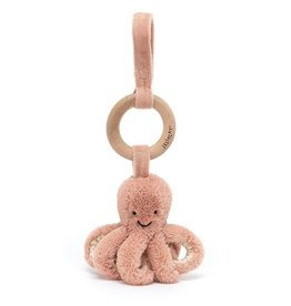 JellyCat Odell Octopus Wooden Ring Toy