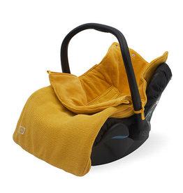 Jollein Voetenzak voor Autostoel & Kinderwagen - Basic Knit - Ocher
