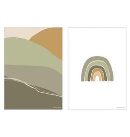Little Dutch Poster A3 - Horizon - olive