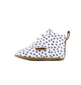 Go Banana's Newborn Soft sole M White black dots